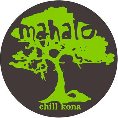 Mahalo Koa Tree Sticker Green