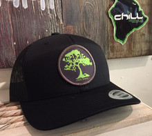 Mahalo Koa Tree Black Trucker Hat