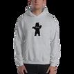 Male model wearing Sport Grey Chill Bear Hoodie