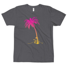 Palm tree and ukulele player t shirt