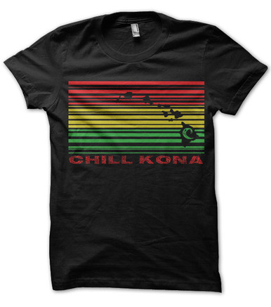 Chill Kona Rasta Hawaii design mens T shirt