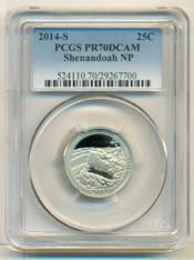 2014 S Clad Shenandoah NP ATB Quarter PR70 DCAM PCGS