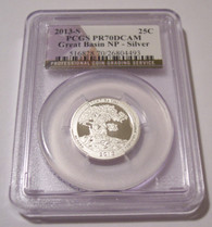 2013 S Silver Great Basin NP Quarter PR70 DCAM PCGS Flag Label