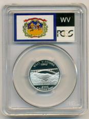 2005 S Silver West Virginia State Quarter PR70 DCAM PCGS Flag Label