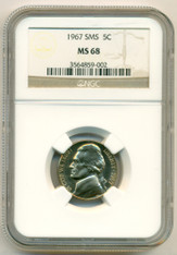 1967 Jefferson Nickel SMS MS68 NGC