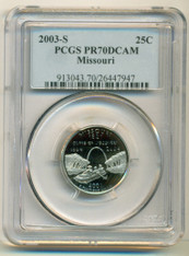 2003 S Clad Missouri State Quarter Proof PR70 DCAM PCGS Blue Label