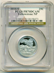 2010 S Clad Yellowstone NP ATB Quarter Proof PR70 DCAM PCGS Flag Label