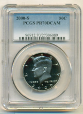 2000 S Clad Kennedy Half Dollar Proof PR70 DCAM PCGS