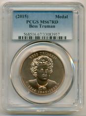 2015 Bess Truman Bronze Medal MS67 RED PCGS