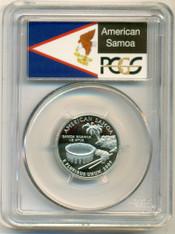 2009 S Clad American Samoa Territories Quarter PR70 DCAM PCGS Flag Label