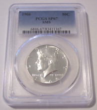 1966 Kennedy Half Dollar SMS SP67 PCGS