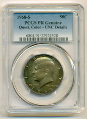 1968 S Kennedy Half Dollar Proof UNC Details (Color) PCGS