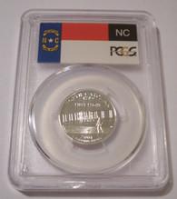 2001 S Silver North Carolina State Quarter Proof PR69 DCAM PCGS Flag Label