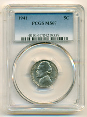 1941 Jefferson Nickel MS67 PCGS