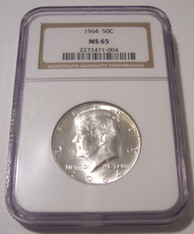 1964 Kennedy Half Dollar MS65 NGC