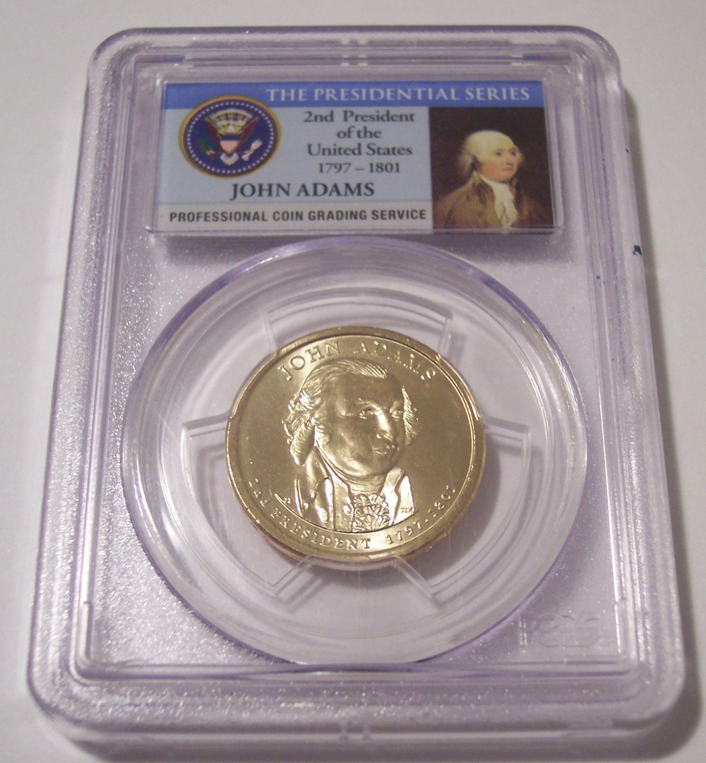 2007 P ADAMS DOUBLE EDGE LETTERED DOLLAR NGC MS65