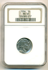1936 Buffalo Nickel MS65 NGC