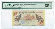 Bhutan 2015 5 Ngultrum Bank Note Gem Uncirculated 65 EPQ PMG