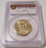 2010 Millard Fillmore Presidential Dollar Missing Edge Lettering Error MS67 PCGS Moy Label