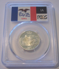 2004 S Silver Iowa State Quarter Proof PR69 DCAM PCGS Flag Label
