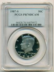 1987 S Kennedy Half Dollar PR70 DCAM PCGS Blue Label