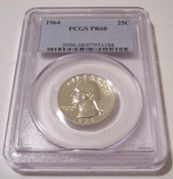 1964 Washington Quarter Proof PR68 PCGS