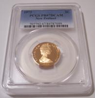 New Zealand 1973 2 Cents rv kowhai leaves Proof PR67 DCAM PCGS Low Mintage