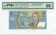 Samoa 1990 2 Tala Bank Note Commemorative Gem Uncirculated 66 PMG EPQ