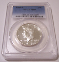 1969 S Kennedy Half Dollar Proof PR66 PCGS