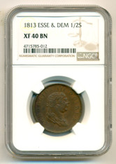 Essequibo & Demerary 1813 1/2 Stiver XF40 BN NGC