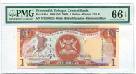 Trinidad & Tobago 2009 1 Dollar Bank Note Gem Unc 66 EPQ PMG