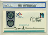 2006 P & D Colorado State Quarters Official First Day Cover MS65/MS66 NGC