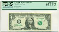 2003 $1 FRB Atlanta Dollar Star Note Gem New 66 PPQ PCGS Currency