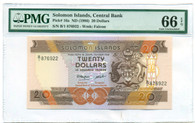Solomon Islands 1986 20 Dollars Bank Note Gem Uncirculated 66 EPQ PMG