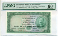 Mozambique 1976 100 Escudos Bank Note Gem Uncirculated 66 EPQ PMG