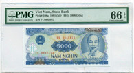 Vietnam 1993 5000 Dong Bank Note Gem Uncirculated 66 EPQ PMG