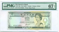 Fiji 1993 1 Dollar Bank Note Superb Gem Unc 67 EPQ PMG