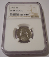 1955 Jefferson Nickel Proof PF68 Cameo NGC