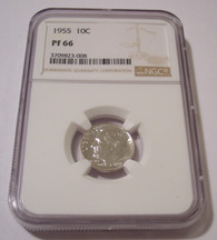 1955 Roosevelt Dime Proof PF66 NGC