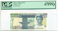 Ghana 1979 2 Cedis Bank Note Superb Gem New 67 PPQ PCGS Currency