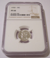 1950 Roosevelt Dime Proof PF66 NGC