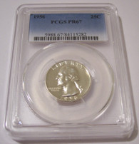 1956 Washington Quarter Proof PR67 PCGS