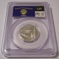 2005 S Silver Oregon State Quarter Proof PR69 DCAM PCGS Flag Label
