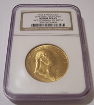 1932 Wakefield Restored-Washington Birth Bicentennial Medal Gilt Bronze MS65 NGC