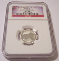 Australia 2011 P 10 Cents 1/10 Ounce Silver Koala MS69 NGC Early Releases