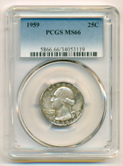 1959 Washington Quarter MS66 PCGS