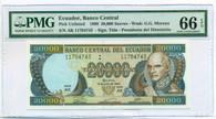 Ecuador 1999 20,000 Sucres Bank Note Gem Unc 66 EPQ PMG