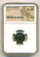 Turkey - Cilicia, Seleuceia - c 100 BC AE18 Ch XF NGC