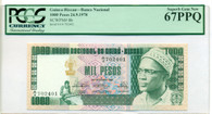 Guinea-Bissau 1978 1000 Pesos Bank Note Superb Gem New 67 PCGS Currency