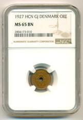 Denmark 1927 HCN GJ Ore KM-826.1 MS65 BN NGC